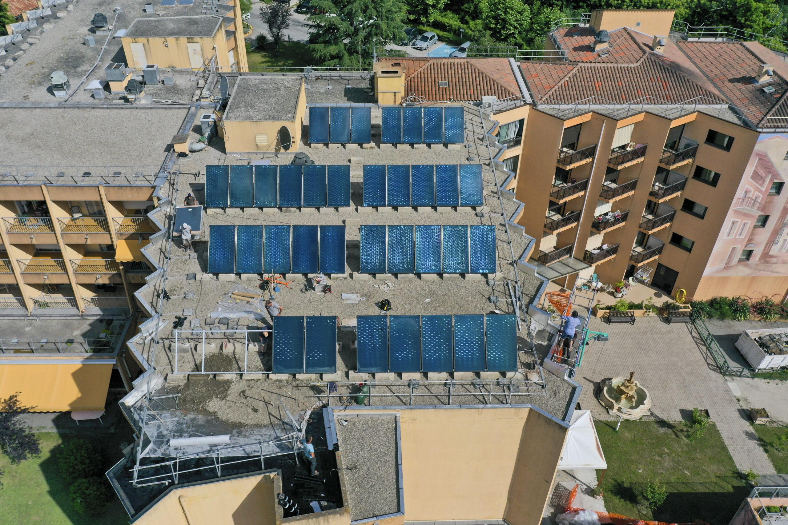 Avancées réfection complète étanchéités toitures d'un EHPAD à Roquebillière